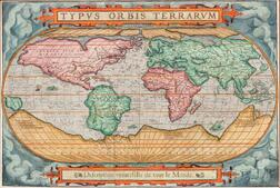 World. Francois de Belleforest (1530-1583) Typus Orbis Terrarum, Description Universelle de tout le Monde.