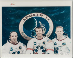 Apollo 14, Prime Crew and Portrait of Alan Shepard, Two Photographs.