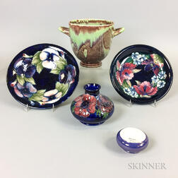 Five Moorcroft Pottery Items