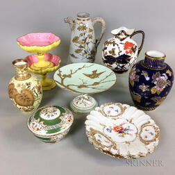Ten English and Continental Porcelain Items