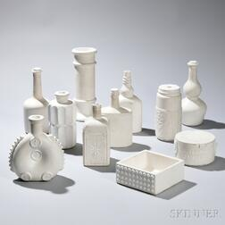 Forty-nine Casting Forms for Glass Vessels