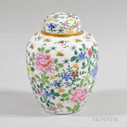 Chinese Floral-decorated Covered Jar