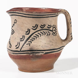Southwest Polychrome Pottery Jug