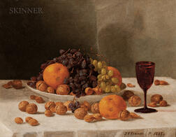 John F. Francis (American, 1808-1886)      Still Life with Fruits and Nuts