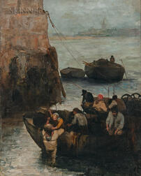 Continental School, 19th Century      Diving off the Coast