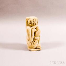 Maldive Islands, 20th Century      Seated Figure with Head in Hands