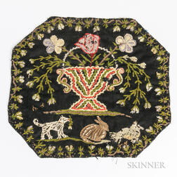Vase of Flowers Embroidered Mat