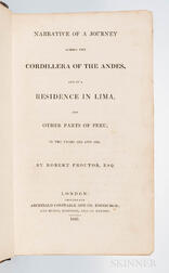 Proctor, Robert (fl. circa 1820) Narrative of a Journey across the Cordillera of the Andes, and of a Residence in Lima, and Other Parts