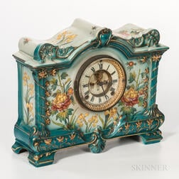 "Ansonia Royal Bonn ""La Palma"" China Case Clock"