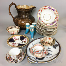Twenty-three Pieces of English Ceramic Tableware