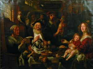 Manner of Jacob Jordaens (Flemish, 1593-1678)    As the Old Sang, So the Young