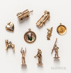 Group of 14kt Gold Figural Charms
