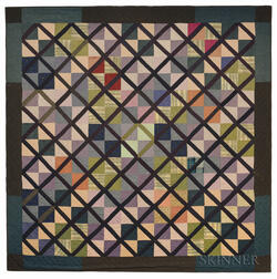 Large Framed Geometric Quilt