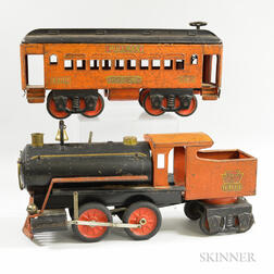 Keystone Mfg. Co. Steel Locomotive and Pullman Car