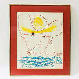Framed Lithograph After Picasso