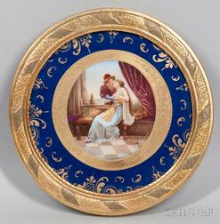 Vienna Porcelain Hand-painted Plaque
