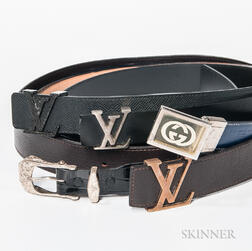 Five Men's Designer Belts
