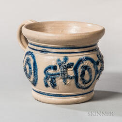 Cobalt-decorated Westerwald Chamber Pot