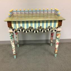 MacKenzie-Childs Painted-decorated Wood Dressing Table