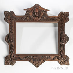 Carved Mahogany Frame with New York Motifs