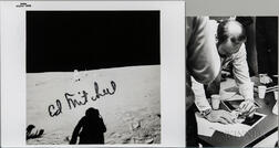 Apollo 14, Edgar Mitchell at the Lunar Science Station, Signed Photograph.