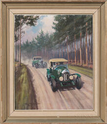 Roy Nockolds (British, 1911-1979)      Bentley Auto Race