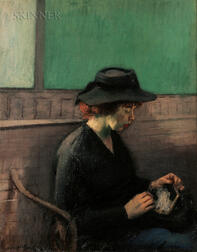 Raphael Soyer (American, 1899-1987)      Woman in Station