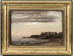 Alfred T. Ordway (American, 1819-1897)      At Swampscott Mass with the Lincoln House & the City of Lynn in the Distance