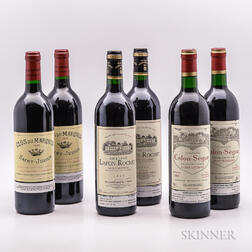Mixed 1995 Bordeaux, 6 bottles