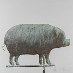 Molded Sheet Copper Pig Weathervane