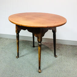 Queen Anne-style Maple Oval-top Tea Table