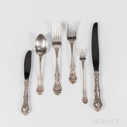 "Gorham ""King Edward"" Pattern Sterling Silver Flatware Service"
