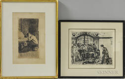 Käthe Kollwitz (German, 1867-1945)      Two Framed Etchings