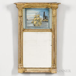 Small Gilt-gesso Eglomise Mirror