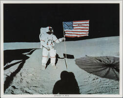 Apollo 14, Alan Shepard and the American Flag, EVA 1, February 1971.
