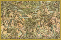 Painting Depicting a Rice Paddy Field