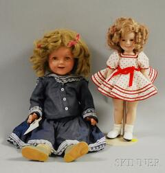Ideal Shirley Temple Composition Doll and Bisque Shirley Doll