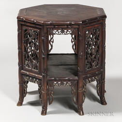 Hardwood Octagonal Table