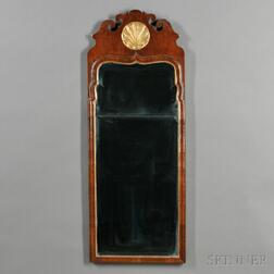 Queen Anne Walnut and Parcel-gilt Mirror
