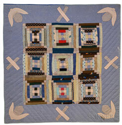 Framed Pineapple Log Cabin Crib Quilt