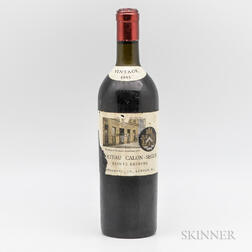 Chateau Calon Segur 1945, 1 bottle