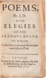 Donne, John (1572-1631) Poems, By J.D. with Elegies on the Authors Death, to which is added, Divers Copies under his Own Hand Never Be