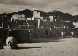 After Ansel Adams (American, 1902-1984)      Taos Pueblo