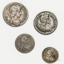 Charles II Four-coin Maundy Set