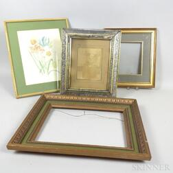 Four Small Molded Frames.     Estimate $5-10