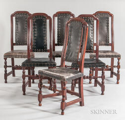 Set of Six Leather Side Chairs