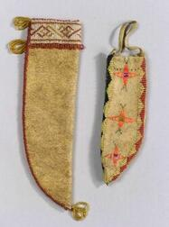 Two Beaded Hide Knife Sheaths