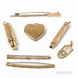 Group of Gold Jewelry and Accessories