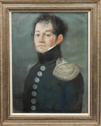 French School, 19th Century    Bust-length Portrait of a Military Officer