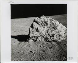Apollo 14, EVA, Photograph of a Large Boulder.